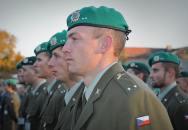 Slavnostní nástup příslušníků Univerzity obrany při příležitosti Dne vítězství