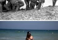 Jak vypadala Normandie dnes a před 70 lety