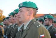 Slavnostní nástup příslušníků Univerzity obrany u příležitosti Dne ozbrojených sil ČR
