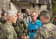 Armádní generál Petr Pavel navštívil Těchonín a tvrz Boudu