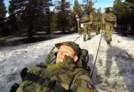Zimní výcvik pěší roty AZ pplk Josefa Otiska
