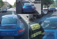 Pražské hasiče ohrožoval cestou od zásahu řidič Porsche