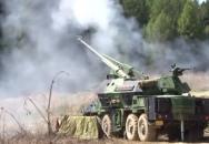 Akční záběry 13. dělostřelecké brigády - palba z DAN