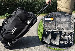 Cestovní taška od Snugpaku - zaměřeno na prostor, způsob uložení a vlastní přenos tašky