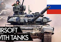 Airsoft v Rusku? Tanky, transportéry i těžké dělostřelectvo..... Na to akce v ČR fakt nemají....