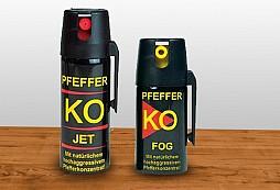 Jaké ve skutečnosti jsou pepřové spreje KO JET a KO FOG?
