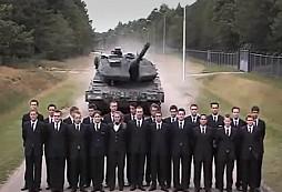 Brzdový test tanku Leopard aneb absolutní důvěra
