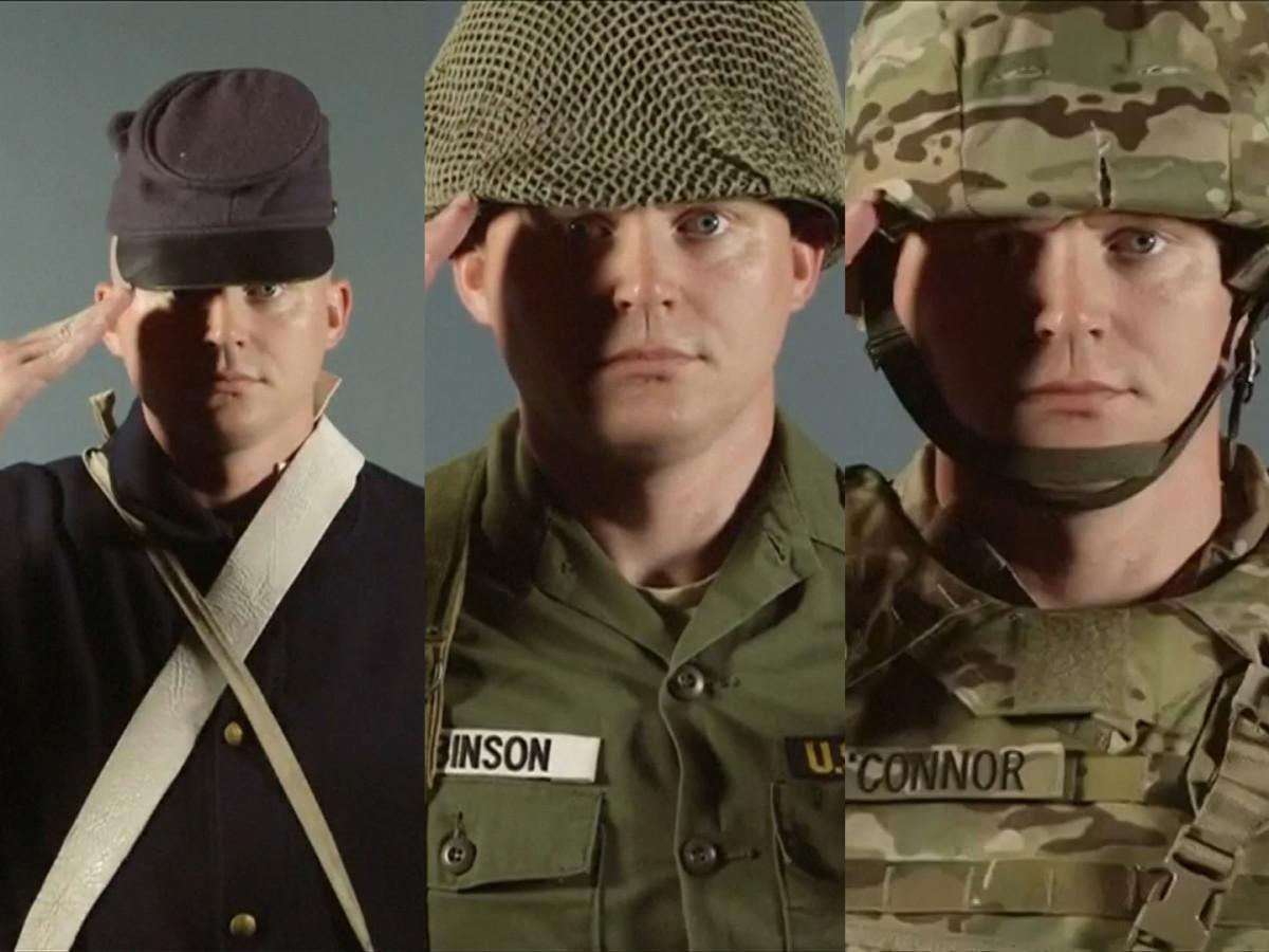 Army combat uniform history