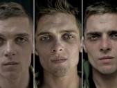 Proměny obličejů mladých vojáků, kteří prošli stresem války