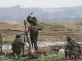 Ostré střelby 71. mechanizovaného praporu ze 120mm minometů PRAM