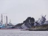 Norové při obrovském cvičení NATO přišli o moderní bojovou loď
