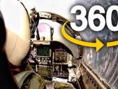 Velmi zajímavé 360° video z kokpitu vojenské stíhačky F-18/A