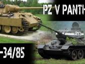 Kdo s koho: Pz. V Panther vs. T-34/85