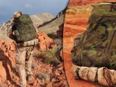 Český batoh Magnus 40 při náročném výcviku v pouštních podmínkách