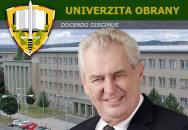 Návštěva prezidenta ČR na Univerzitě obrany