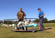 Modelařina, koníček pro velký kluky. Obrovský model RC model Mi-24 Hind od Kamila Šimona