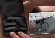 Přívěšek pro velký kluky - Miniaturní Glock a minikulomet M2 Browning
