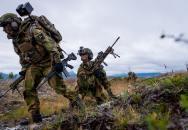 Cvičení norské armády - pohled první osoby