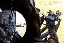 Palubní střelci z 22. základny vrtulníkového letectva v akci