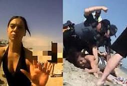 Policisté v New Jersey 'zmlátili' mladistvou dívku, která popíjela na pláži alkohol. Proč se to vlastně stalo?