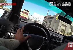 Drsná přestřelka v ulicích Las Vegas skončila smrtí podezřelého z vraždy