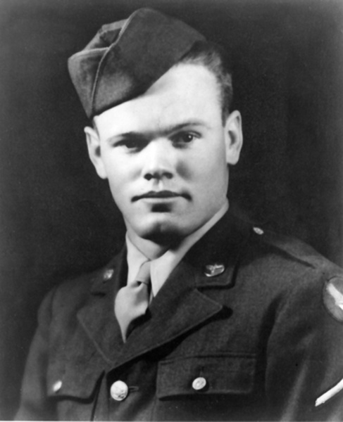 Private First Class Henry Eugene Erwin, Air Corps, United States Army, circa 1943. (U.S. Air Force)