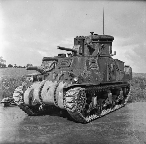 A CDL turret fitted to a M3 Grant tank; the CDL turret is fitted with a dummy gun